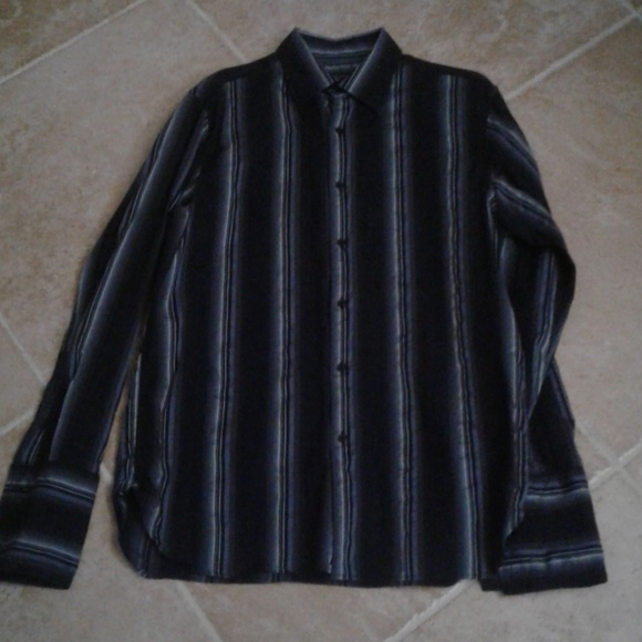 INC International Concepts Other - INC untucked French cuff striped shirt